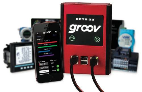 groov Box and mobile operator interface on a smartphone