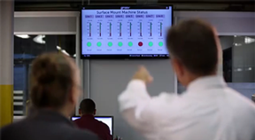 Monitoring factory KPIs on a large TV screen using a groov operator interface