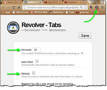 Revolver - Tabs options