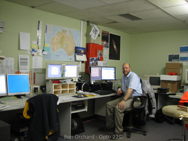 ben in his old office in the basement of the hospital