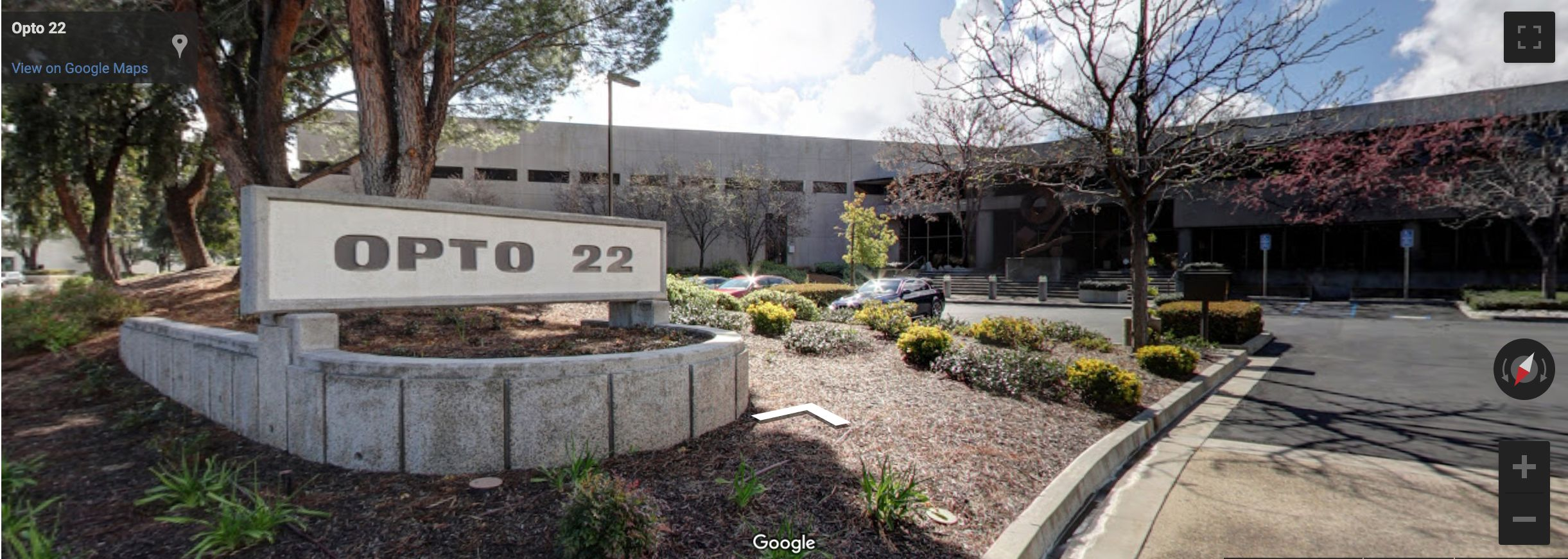 Google Street Maps - Front of Opto 22 headquarters building