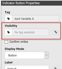 Indicator Button Properties