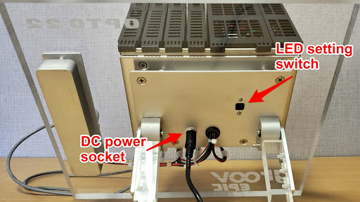 EPIC Learning Center LED switch and DC power socket