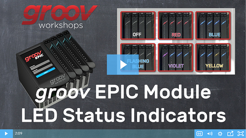 groov EPIC I/O Module LED Status Indicators