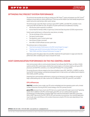 Optimize PAC Project Tech Note