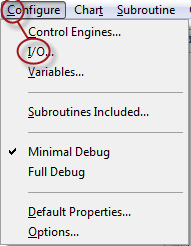 PAC Control Configure menu alt shortcuts