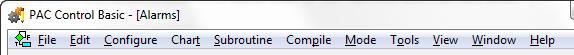 PAC Control menus - alt shortcuts