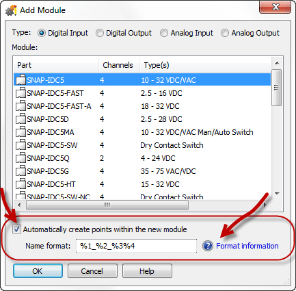 Automatically configure I/O points in PAC Control