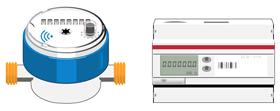 M-Bus water meter and sensor
