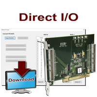 PC-based direct I/O SDK for PCI adapter cards