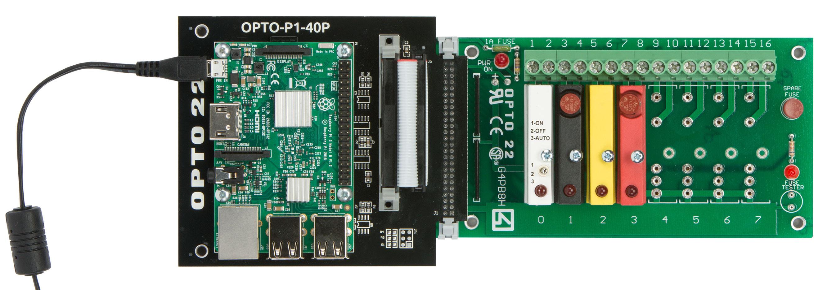 Opto 22 industrial digital I/O for Raspberry Pi