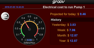 groov mobile interface showing information from totalizer