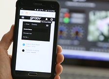 groov mobile interface on smartphone