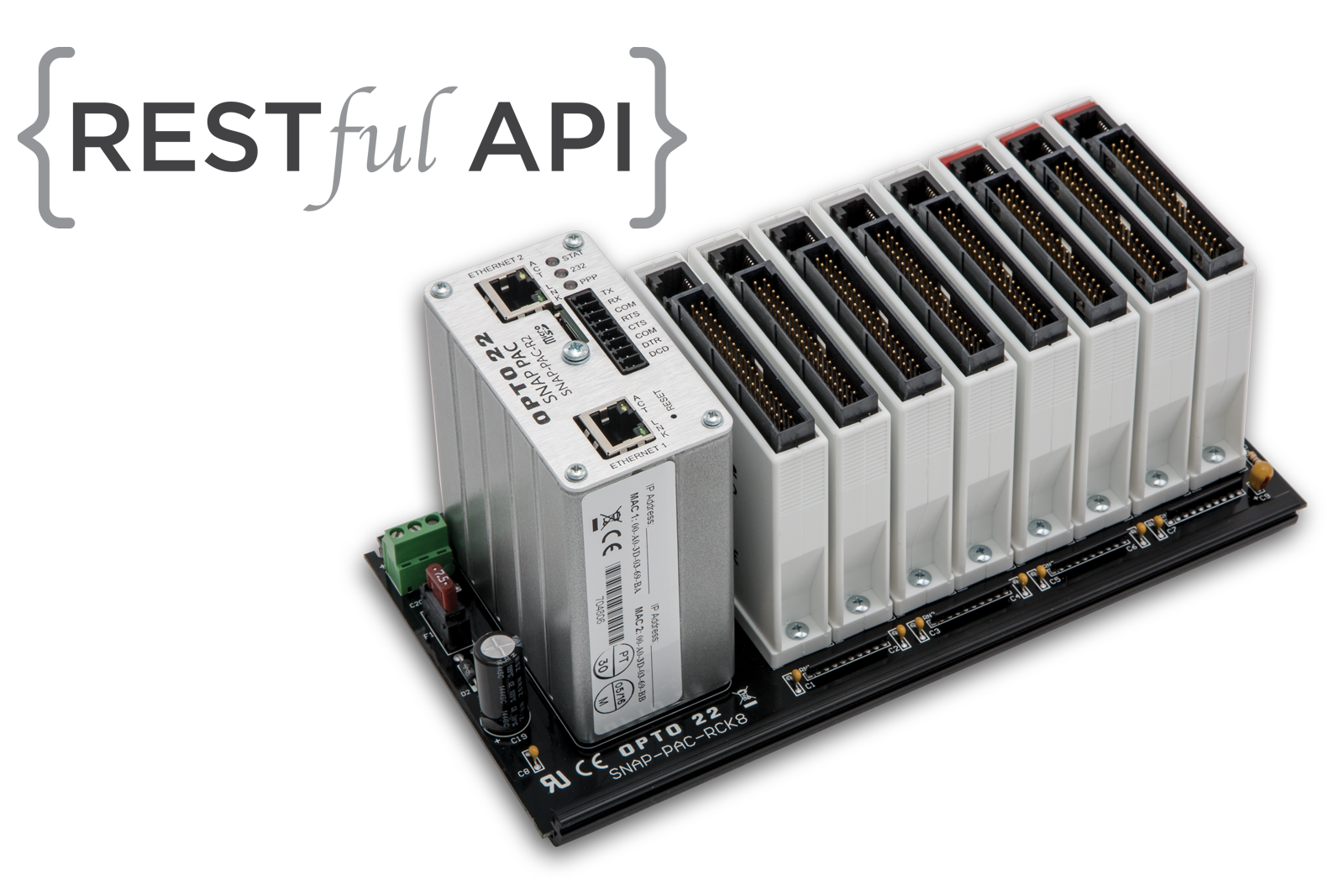 SNAP-PAC-R1 programmable automation controller with a RESTful API