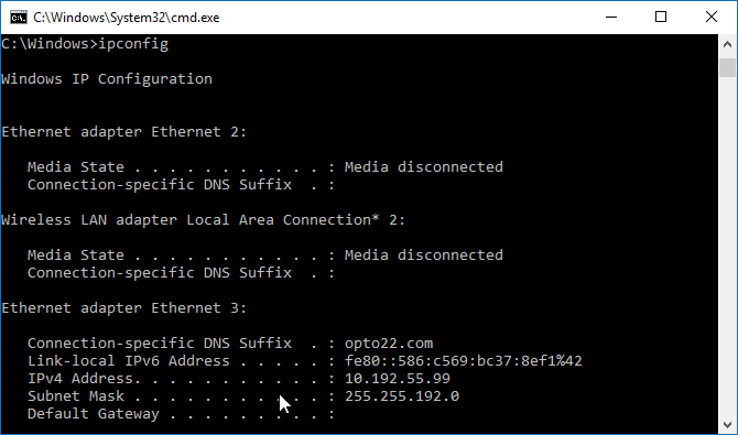 Troubleshoot industrial Ethernet network with Windows command line-1.png