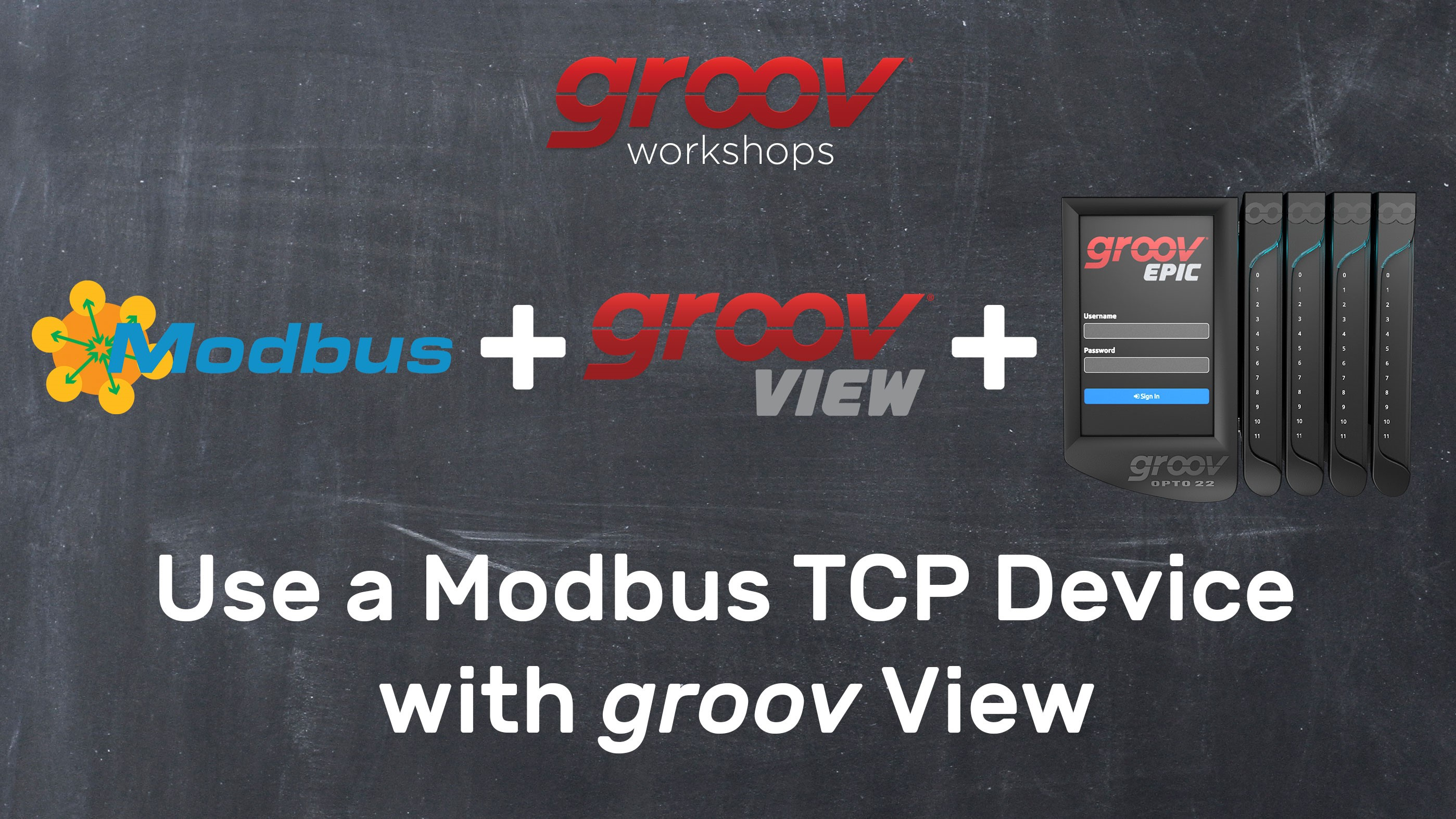 Use a Modbus TCP device with groov View
