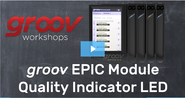 Video: groov EPIC module quality indicator LED