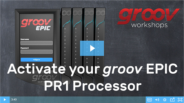 Video - Activate groov EPIC PR1 controller