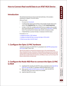 Technical Note: Connect Real-world Data to an AT&T M2X Device