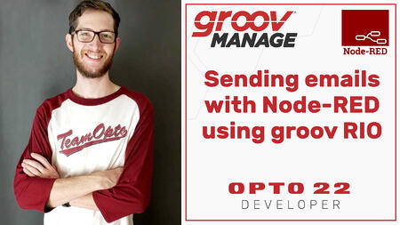 Sending emails with Node-RED using groov RIO