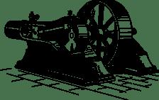 Old-fashioned motor illustration