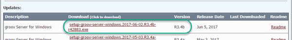 groov Server for Windows update filename