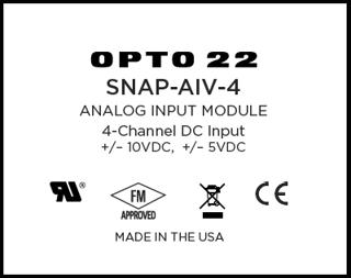Opto 22 SNAP I/O module front