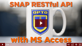 SNAP PAC RESTful API to Microsoft Access video
