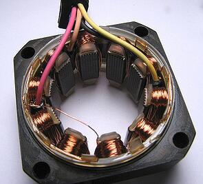 Stator with copper wound poles