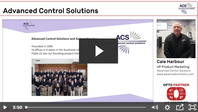 Latest OptoPartner Video - Advanced Control Solutions