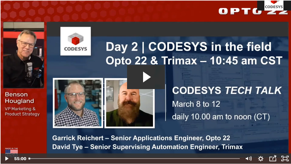 CODESYS on groov EPIC: real applications, real talk