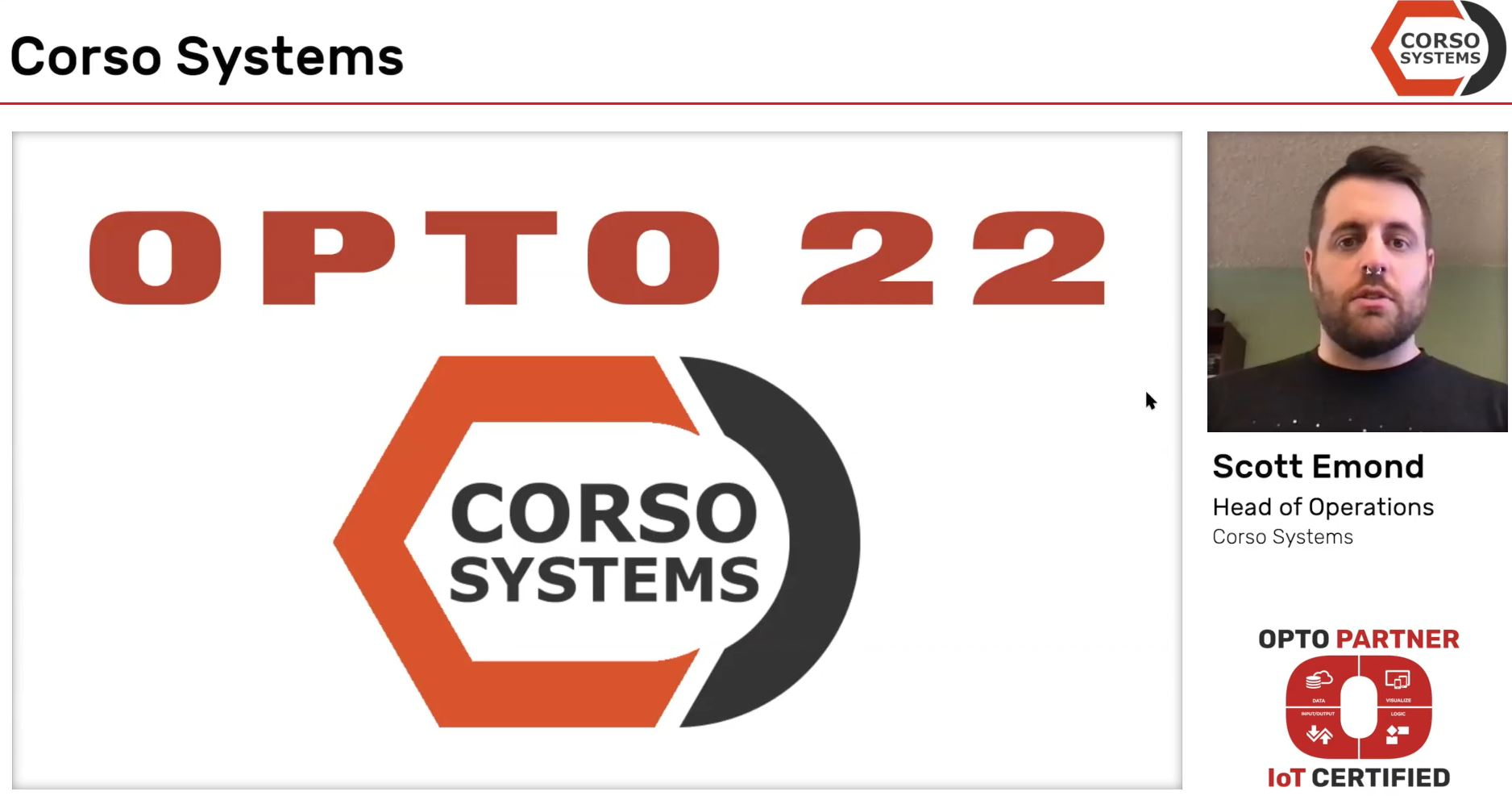 Watch the Latest OptoPartner Video - Corso Systems