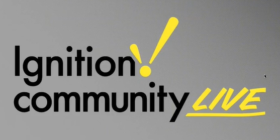 Ignition Community Live - you don't want to miss it