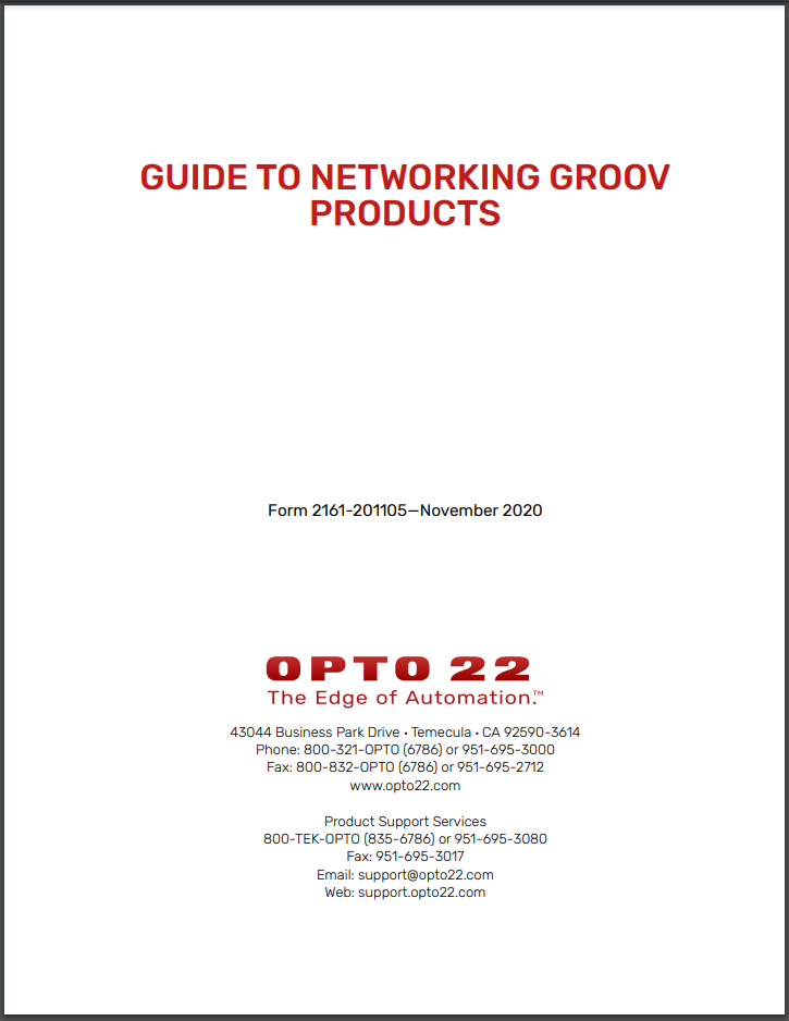 Your guide to networking groov products