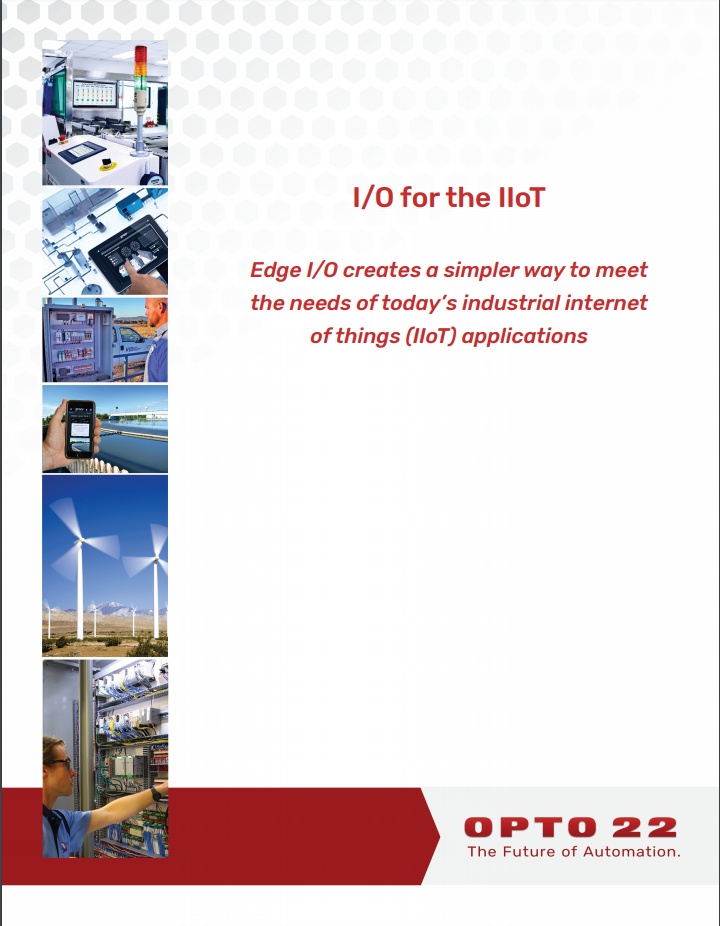 New white paper introduces edge I/O – I/O for the IIoT